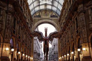 milano vittorio emanuele gallery pegasus statue